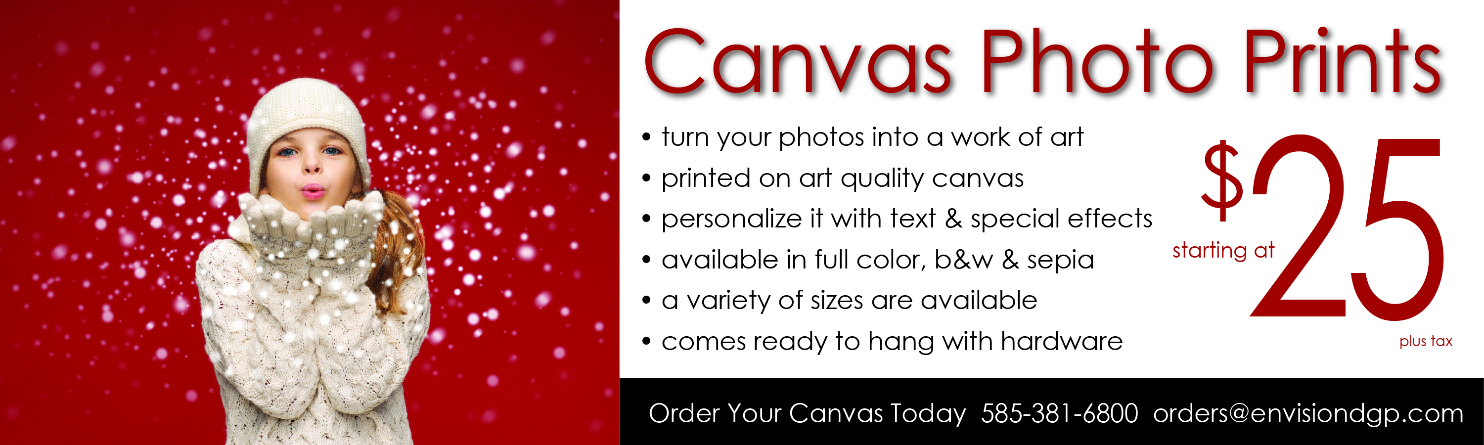 Holiday Canvas Photo Prints