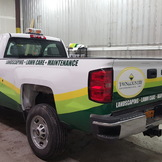 TOWN & COUNTRY PARTIAL WRAP WHITE PICK UP BY ENVISION GRAPHICS, ROCHESTER, NY.jpg...